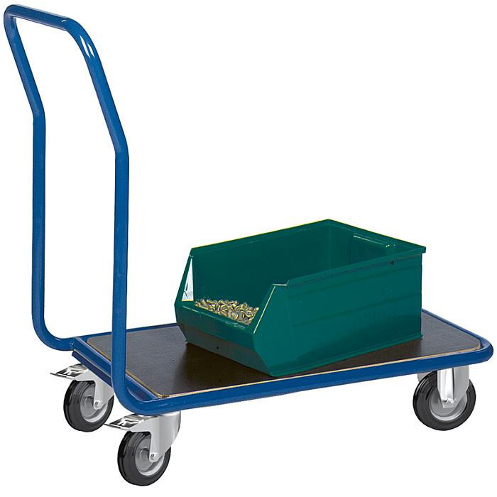KLW Magazinwagen mit 1 Ladefläche aus phenolharzvergütetem Sperrholz 8606-6027G-1C12