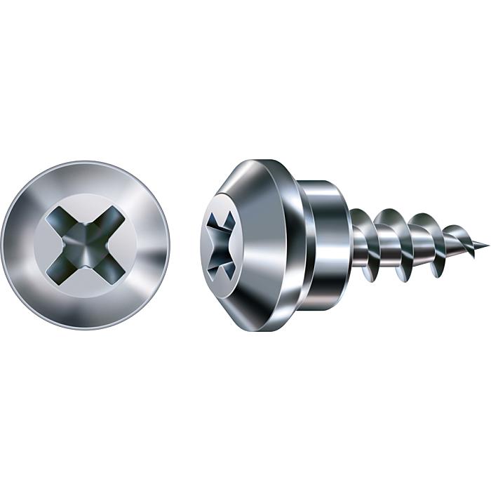 SPAX FEX-RS, 5 x 10 mm, 400 Stück, Spezialgewinde, Rastkopf, Kreuzschlitz H2, Nadelspitze, WIROX 30120000444011
