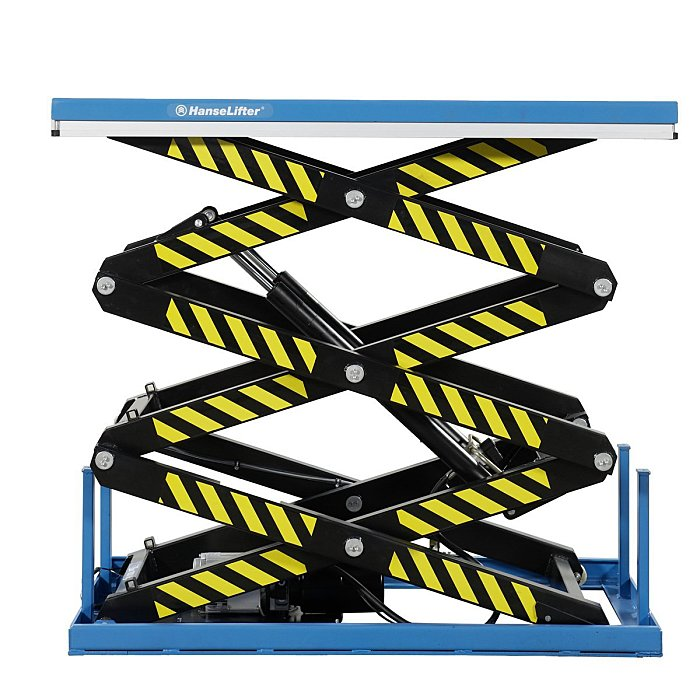 HanseLifter Stationärer Hubtisch Dreifachschere 2.000kg, Hubbereich 560-3.000mm, Tischmaße LxB: 1.700x1.000mm GE0031200
