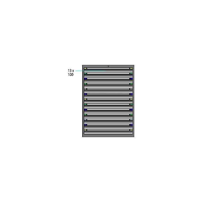 ThurMetall Schubladenschrank (BxTxH) 605x695x1400mm KEY Lock Ultramarinblau RAL 5002 84.396.170