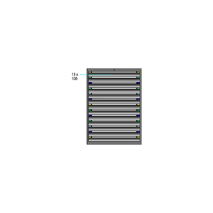 ThurMetall Schubladenschrank (BxTxH) 1205x695x1400mm KEY Lock Lichtblau RAL 5012 84.402.010