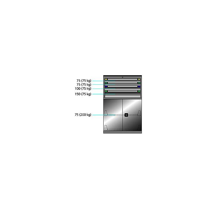 ThurMetall Maschinenschrank (BxTxH) 805x724x1217mm KEY Lock Taubenblau NCS S 4040-R70 B 84.432.876