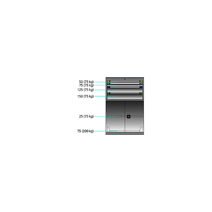 ThurMetall Maschinenschrank (BxTxH) 805x724x1217mm KEY Lock Reinweiss RAL 9010 84.434.110