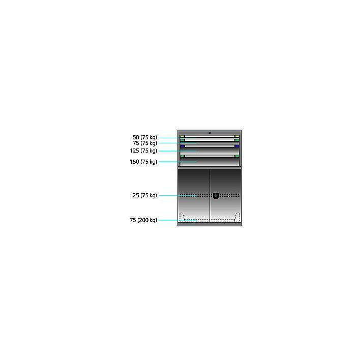 ThurMetall Maschinenschrank (BxTxH) 805x724x1217mm KEY Lock Taubenblau NCS S 4040-R70 B 84.434.876