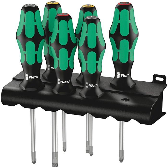 Wera 335/350/355/6 Schraubendrehersatz Kraftform Lasertip + Rack 05105622001