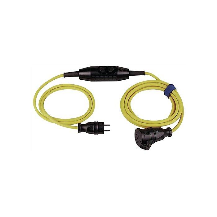 NORDWEST Verlängerungskabel IP44 L.4,5m gelb H07RN-F 3x1,5mm2 3-Wegekupplung