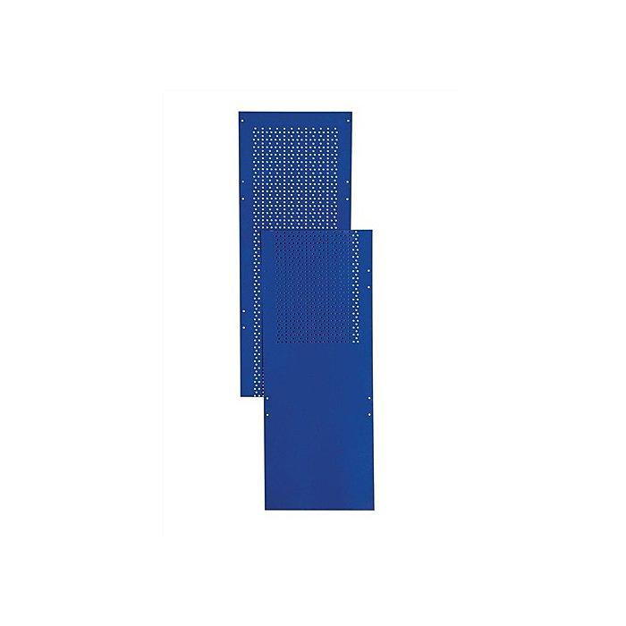 NORDWEST Regalmodul Lochblechseitenwand LOGS 80 H2000xB390mm Blau RAL 5022