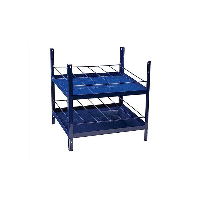 NORDWEST Regalelement Spraydosen 2x6reihig LOGS 180 H520xB540xT390mm Blau RAL 5022