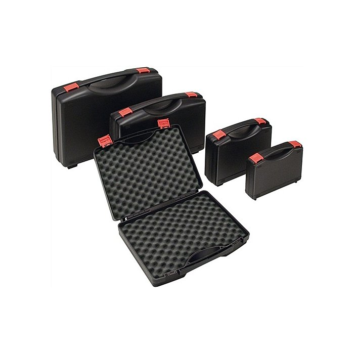 NORDWEST Kunststoffkoffer PP schwarz m.Schaumstoffeinlage B395xT295xH106mm