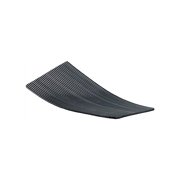 NORDWEST Feinriefenmatte Gummi 3mm m.Gewebe L.10000xB.1200mm schwarz 10m/RL