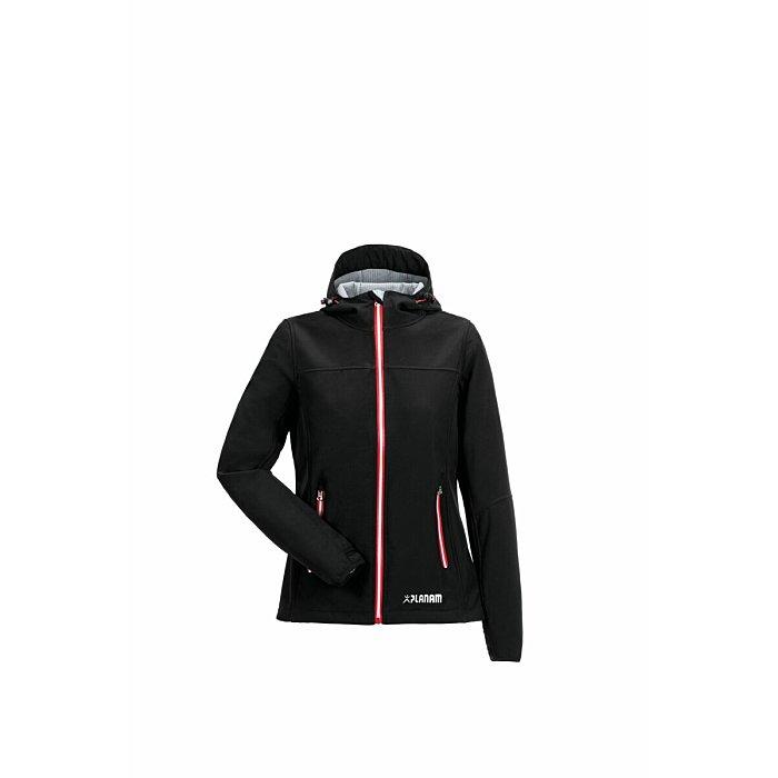 PLANAM Outdoor Unit Damen Jacke schwarz/rot XL 3735056