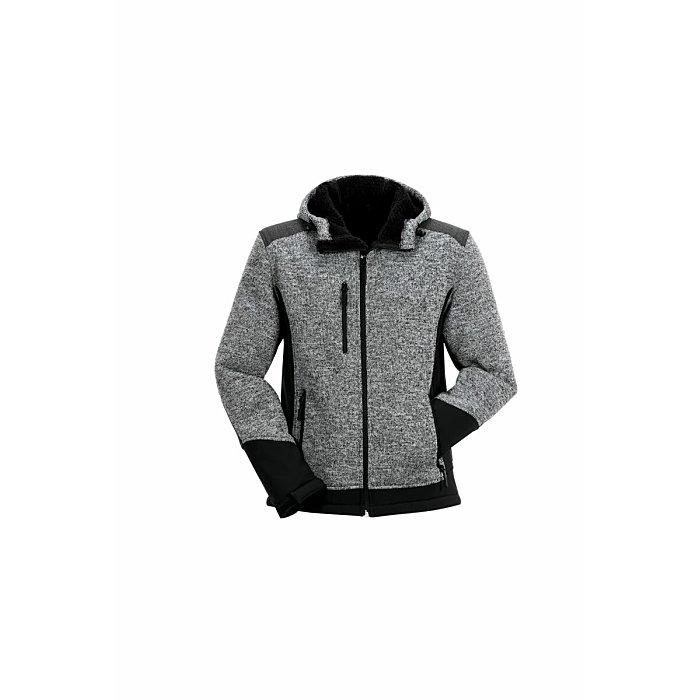PLANAM Yeti Jacke grau/schwarz XL 3750056