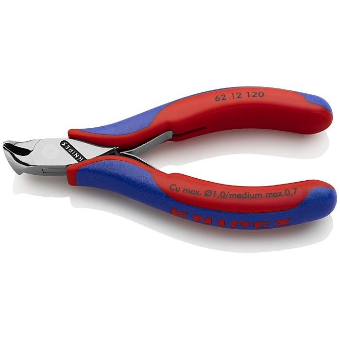 Knipex Electronics Oblique Cutting Nipper with multi-component grips 120mm 62 12 120