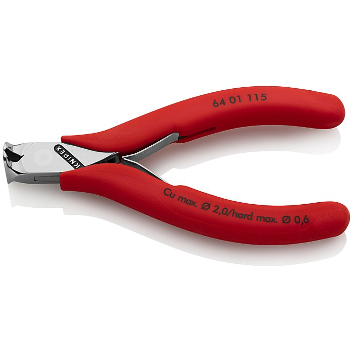 Knipex Electronics End Cutting Nipper plastic coated 115mm 64 01 115