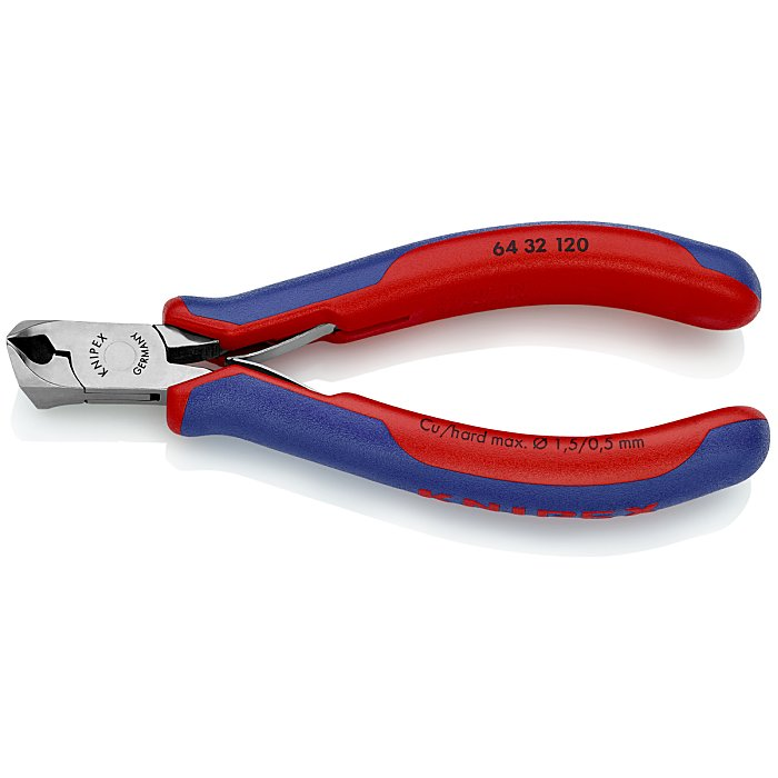 Knipex Electronics End Cutting Nipper with multi-component grips 120mm 64 32 120