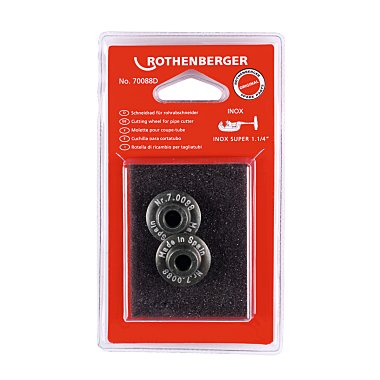 Rothenberger Schneidrad für SUPER 1.1/4, Inox, 2 Stück 070088D