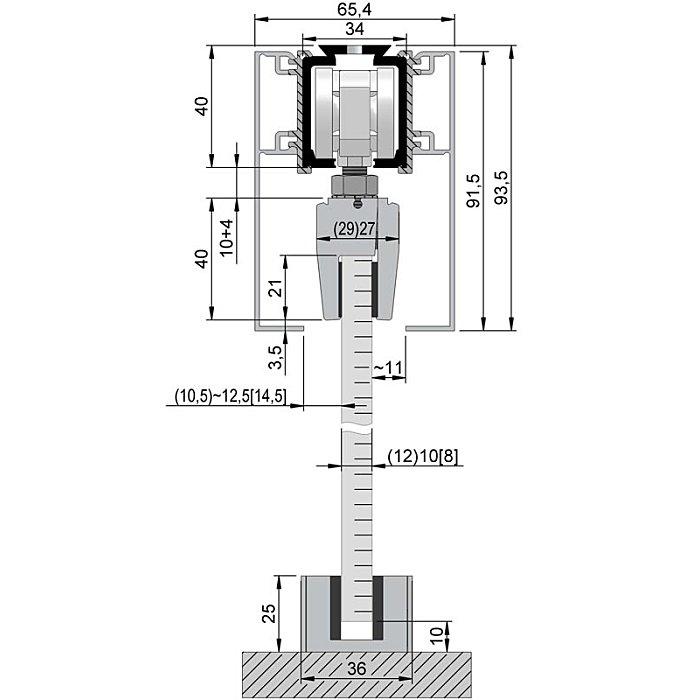 Woelm HELM 140 Abdeckkappenpaar 65 x 91, 5 mm, EV1 eloxiert, beidseitig 120110015007