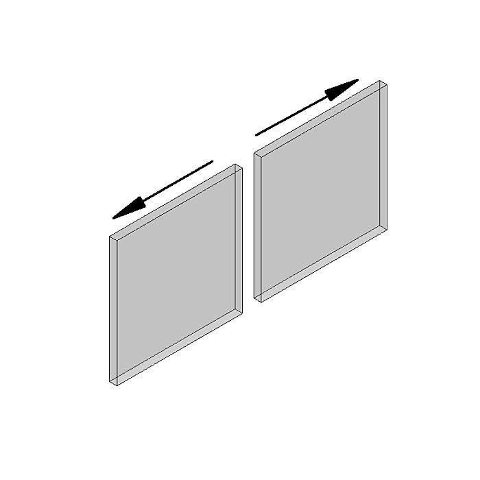 Woelm HELM 140 synchron Set zweiflügelig, für Glas bis 140 kg, 12 mm 120120000084