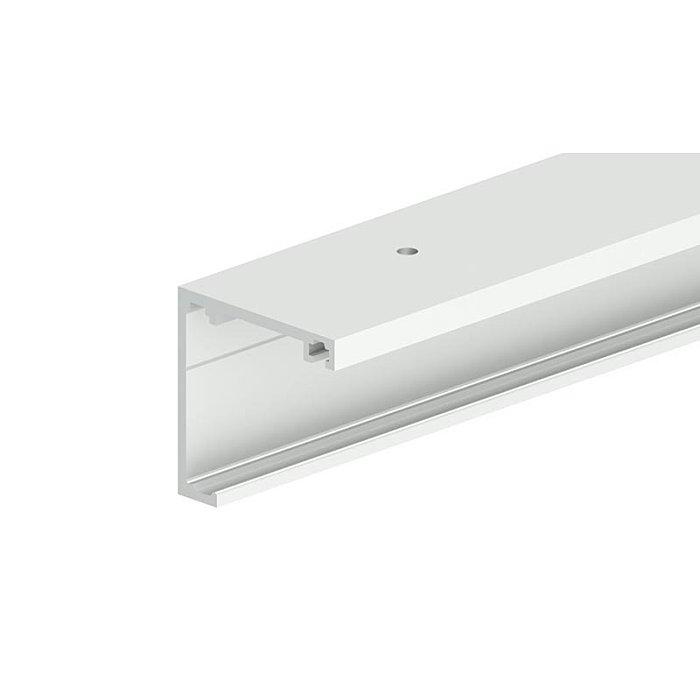 Woelm HELM GT-L Laufschiene Edelstahl Effekt, Lagerlänge, Deckenmontage 6 Meter 0057230