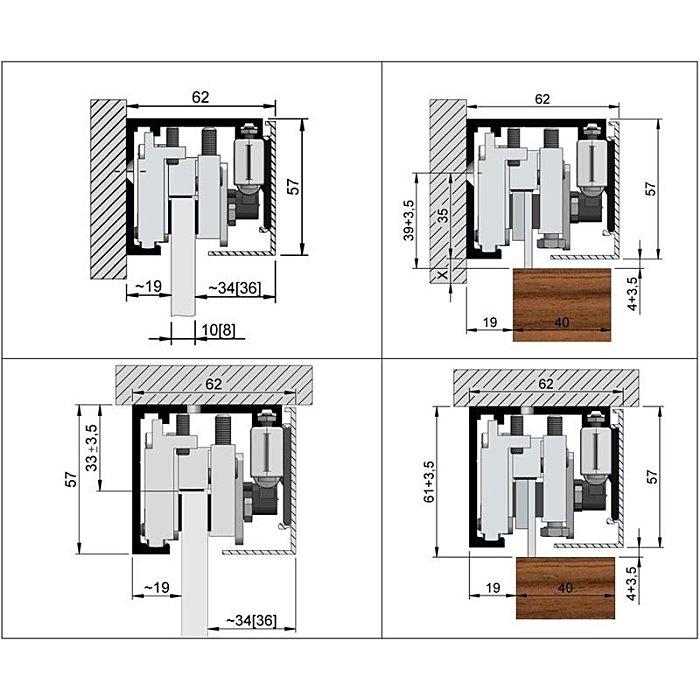 Woelm HELM GT-L Abdeckkappepaar 56 x 62 mm, Edelstahl Effekt, rechts/links 0057214