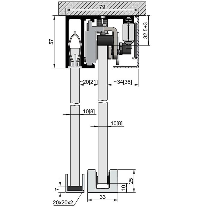 Woelm HELM GT-L Abdeckkappenpaar 56 x 79 mm, Edelstahl Effekt, rechts/links 0057216