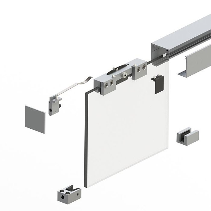 Woelm HELM GT-L 80 Garnitur schwarz matt, 2500 mm, Wand 0057853