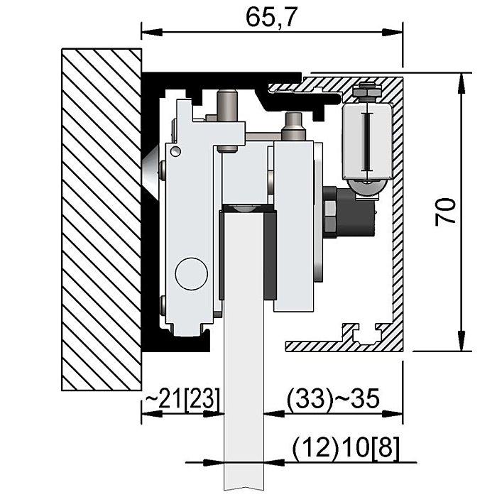 Woelm HELM GT-S 150 Abdeckkappenpaar 65, 5 x 69 mm, Edelstahl Effekt, rechts/links 0058346