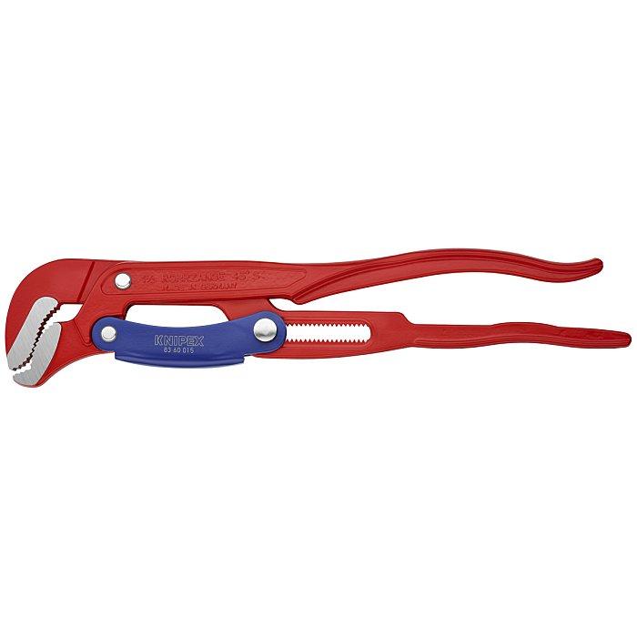 Knipex Clé serre-tubes en S avec réglage rapide revêtement poudre, rouge 420mm 83 60 015