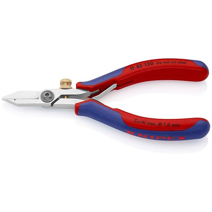 Knipex Cisaille à dénuder pour l'électronique avec gaines bi-matière 130mm 11 82 130