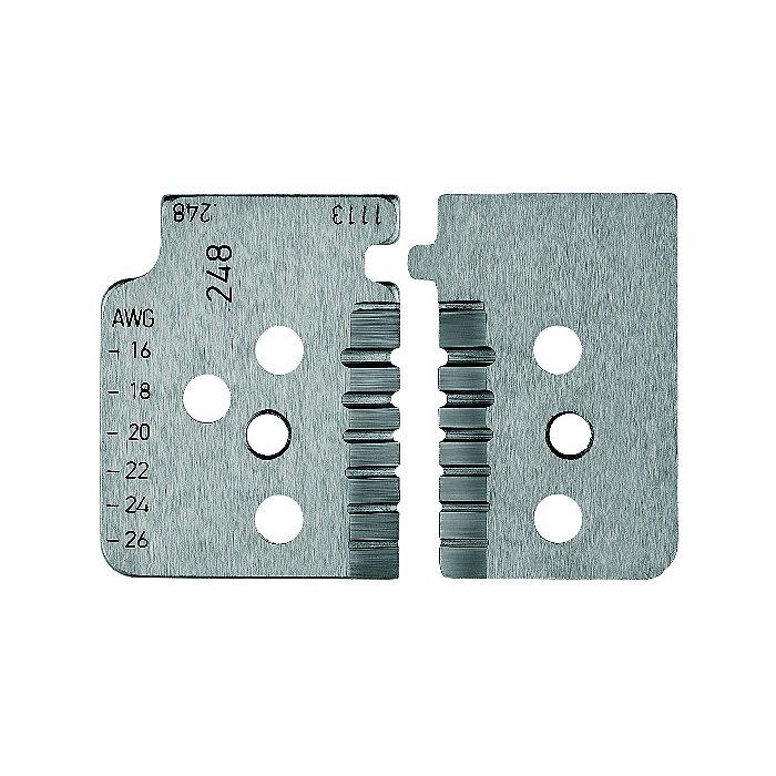 Knipex 1 jeu de lames de rechange pour 12 12 14 avec couteaux de forme 12 19 14