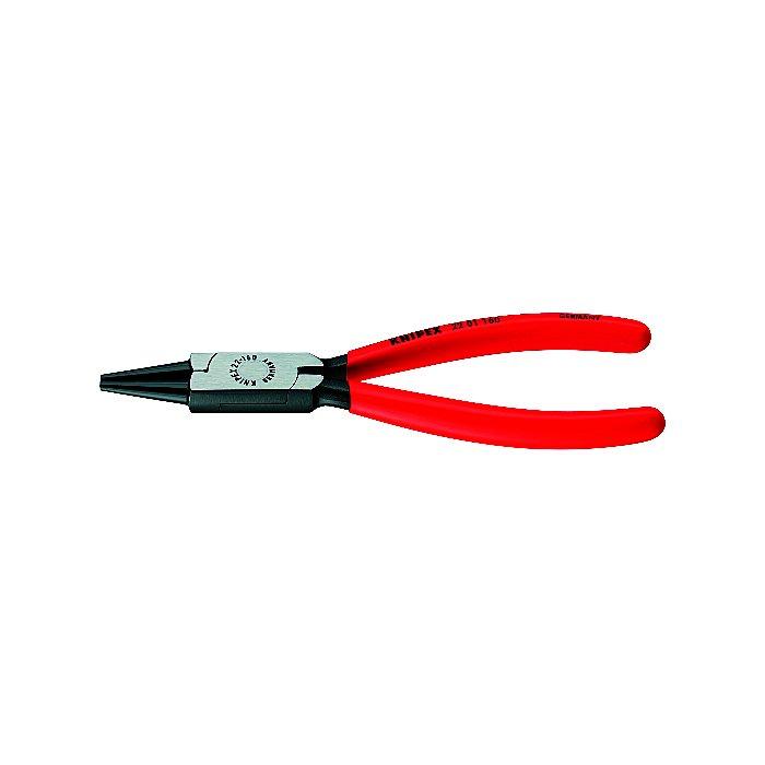 Knipex Pince à becs ronds noire atramentisée gainées en plastique 160mm 22 01 160