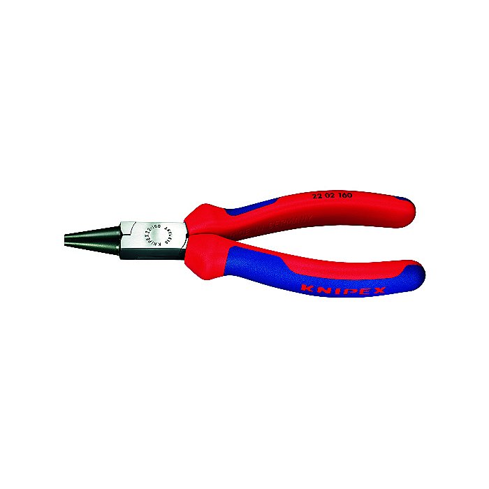Knipex Pince à becs ronds noire atramentisée avec gaines bi-matière 140mm 22 02 140