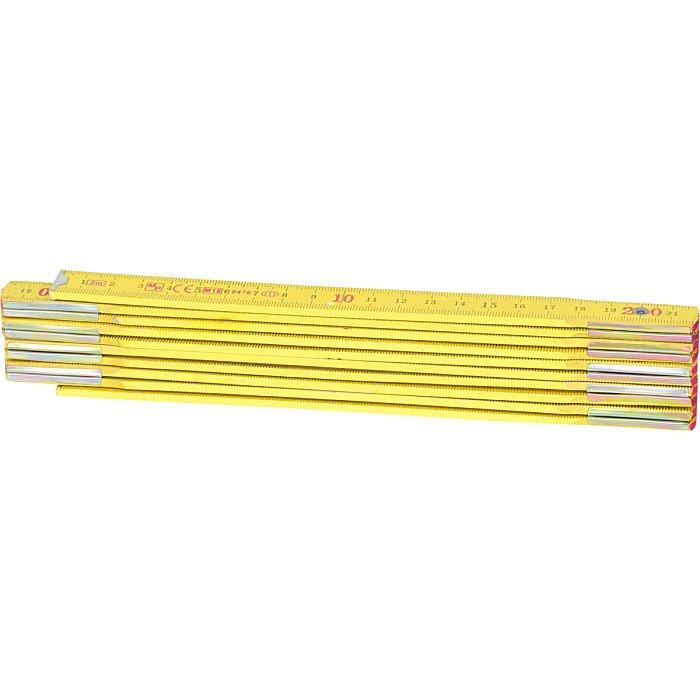 KS Tools Holz-Gliedermaßstab, gelb, 2m 300.0060