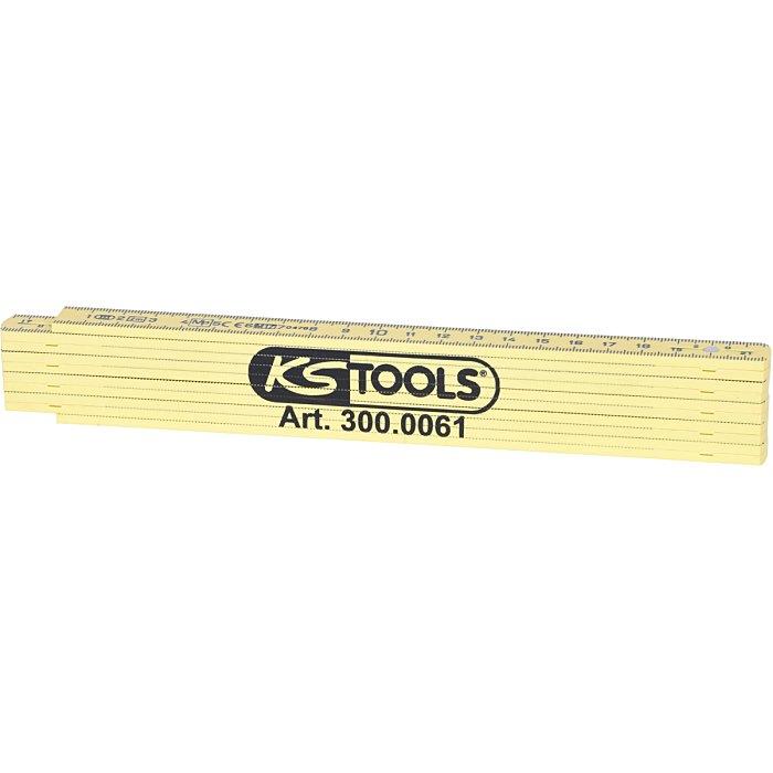 KS Tools Kunststoff-Gliedermaßstab, gelb, 2m 300.0061