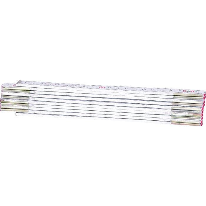 KS Tools Holz-Gliedermaßstab, weiß, 2m 300.0062