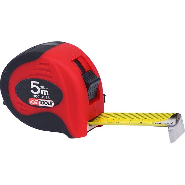 KS Tools Bandmaß m.Feststeller+Gürtelclip, 5m, 25mm 300.0115