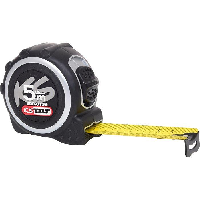 KS Tools Bandmaß m.Feststeller+Gürtelclip, 5m, 25mm 300.0133
