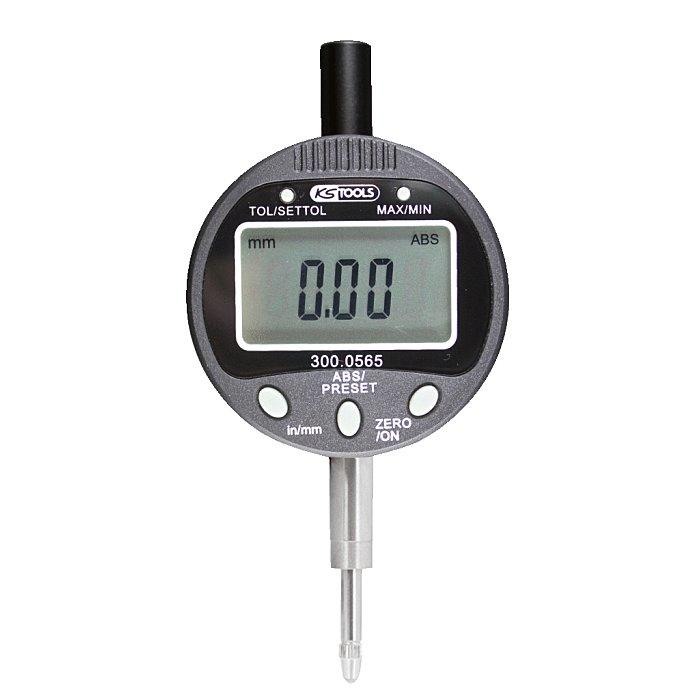 KS Tools Digital-Präzisions-Messuhr 0-10mm 300.0565