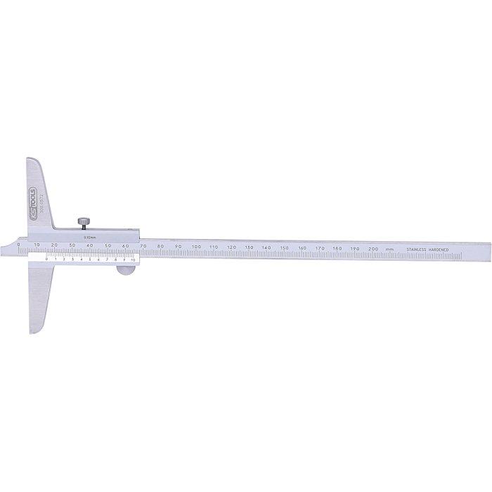 KS Tools Tiefenmessschieber, 0-200mm 300.0572