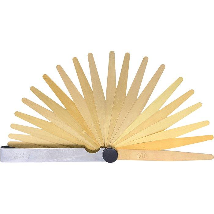 KS Tools Messing-Fühlerlehre, 20 Blatt, 05-1mm, antimagnetisch 300.0613