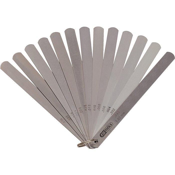 KS Tools Kolbenspiellehre, 8 Blatt, 05-0, 5mm 300.0614