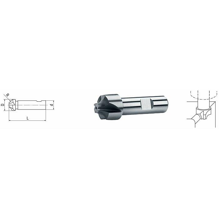 ELMAG HSS Co8 Viertelkreis-Profilfräser DIN 6518 73815