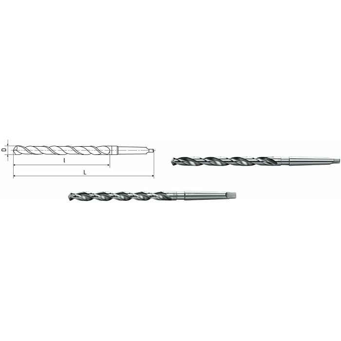 ELMAG HSS Co5-Spiralbohrer mit Morsekegel DIN 341 72111