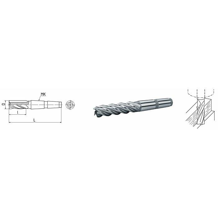 ELMAG HSS Co5-Schaftfräser mit Morsekegel DIN 845 74058