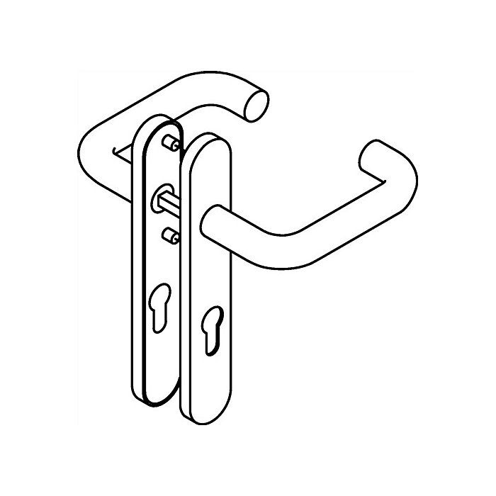 HEWI Kurzschild-Drückergrt.111XAH/219.21XAH E72 PZ VK8mm TS38,1-48mm VA matt 111XAH01.150