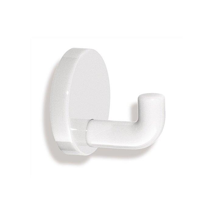 HEWI Einzelhaken 477.90.010 99 Polyamid Durchmesser 50mm reinweiss