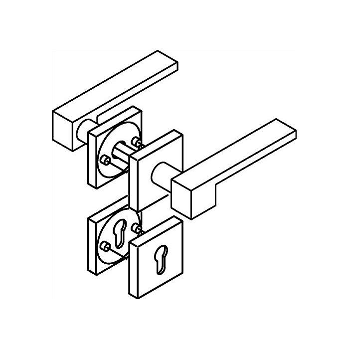 HEWI Rosetten-Drückergrt.181XCB/307.21XCB/308XC BB VK8mm TS38,1-48mm VA spiegelpol. 180XCB01.1A0