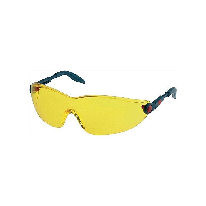 3M Schutzbrille 2742 Bügel blau/rot AS AF UV EN166 PC gelb einstellbare Bügel 3M