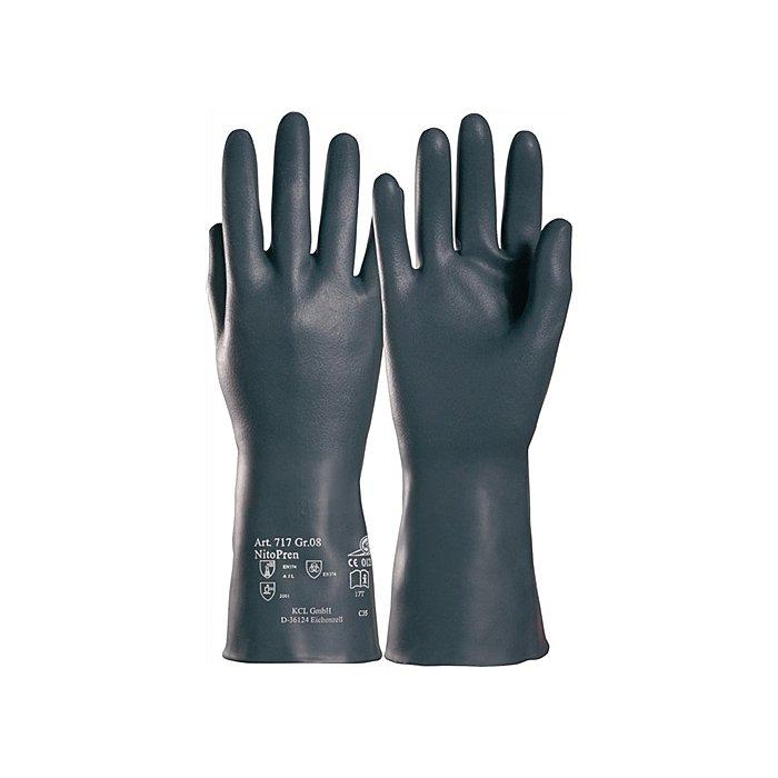 KCL Handschuhe Nitopren 717 Gr.10 L.310mm Nitril/Chloropren velourisiert 717/10