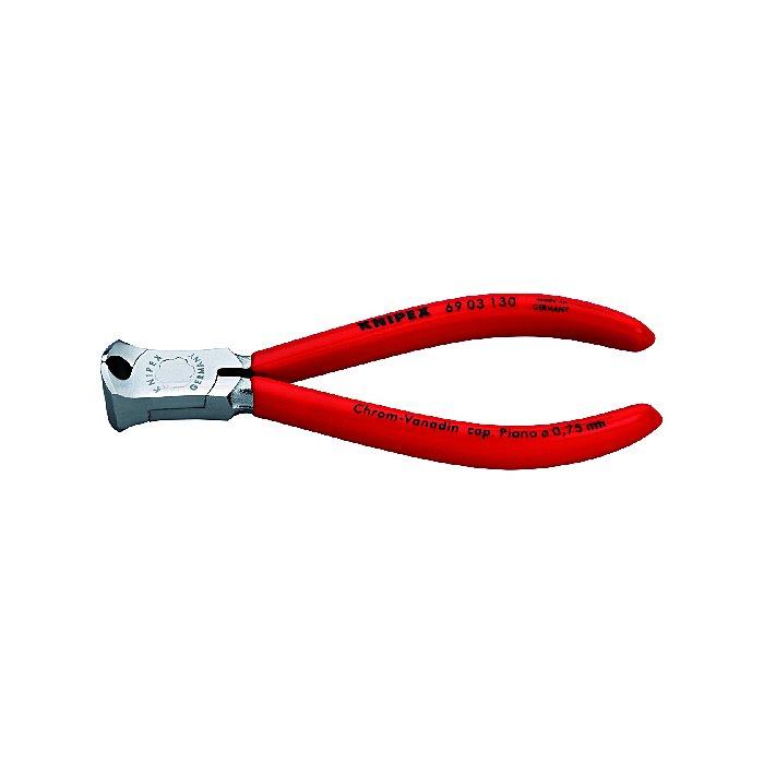 Knipex Alicate de corte frontal para mecánica cromado recubiertos de plástico 130mm 69 03 130
